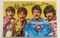 The Beatles signed autographed photo Paul McCartney George Harrison Ringo Starr
