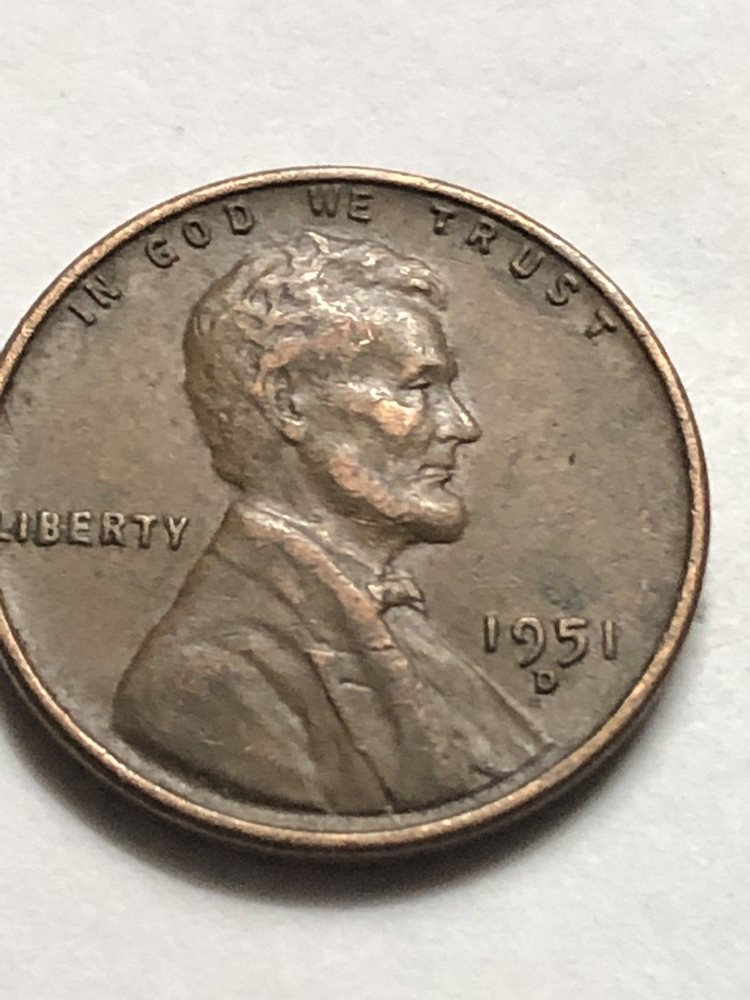 1951 D Lincoln Wheat Penny Cent -Better Grade Free Shipping Lot N84