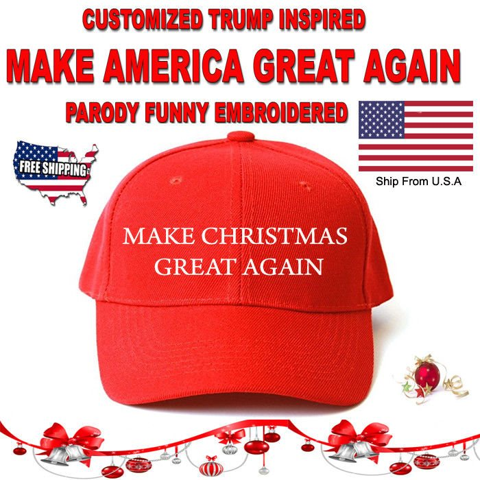 Christmas Parody.Customized Make Christmas Great Again Hat Trump Parody Funny Embroidered