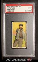 1909 T206 THR Nap Lajoie Cleveland Naps (Indians) (Baseball Card) (Throwing) PSA 2 - GOOD