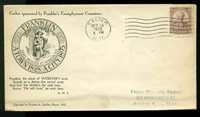 U.S. FDC #725 Planty #P2 1st R. A. Griffin Cachet Exeter, NH Noah Webster