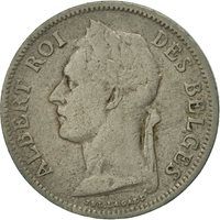 Belgian Congo, 50 Centimes, 1925, EF(40-45), Copper-nickel, KM:22