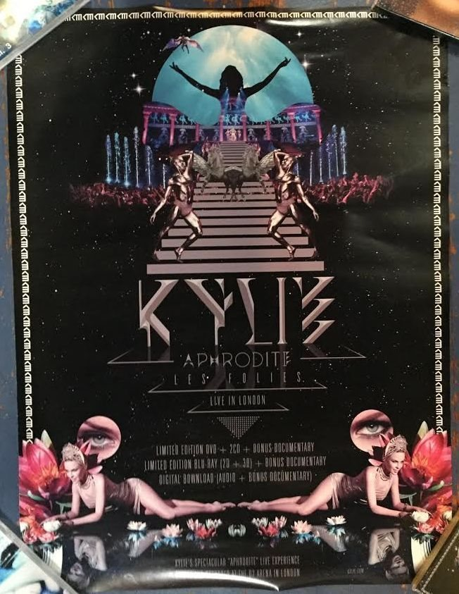 Kylie Minogue APHRODITE promo poster for blu-ray / DVD 17 5 x 24