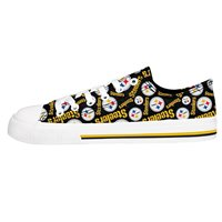 e5cf9dde466fd3 Pittsburgh Steelers NFL Womens Low Top Repeat Print Canvas Shoes