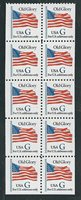 """Scott # 2881...(32) Cent...Old Glory """"G""""...Booklet Pane With 10 Stamps"""