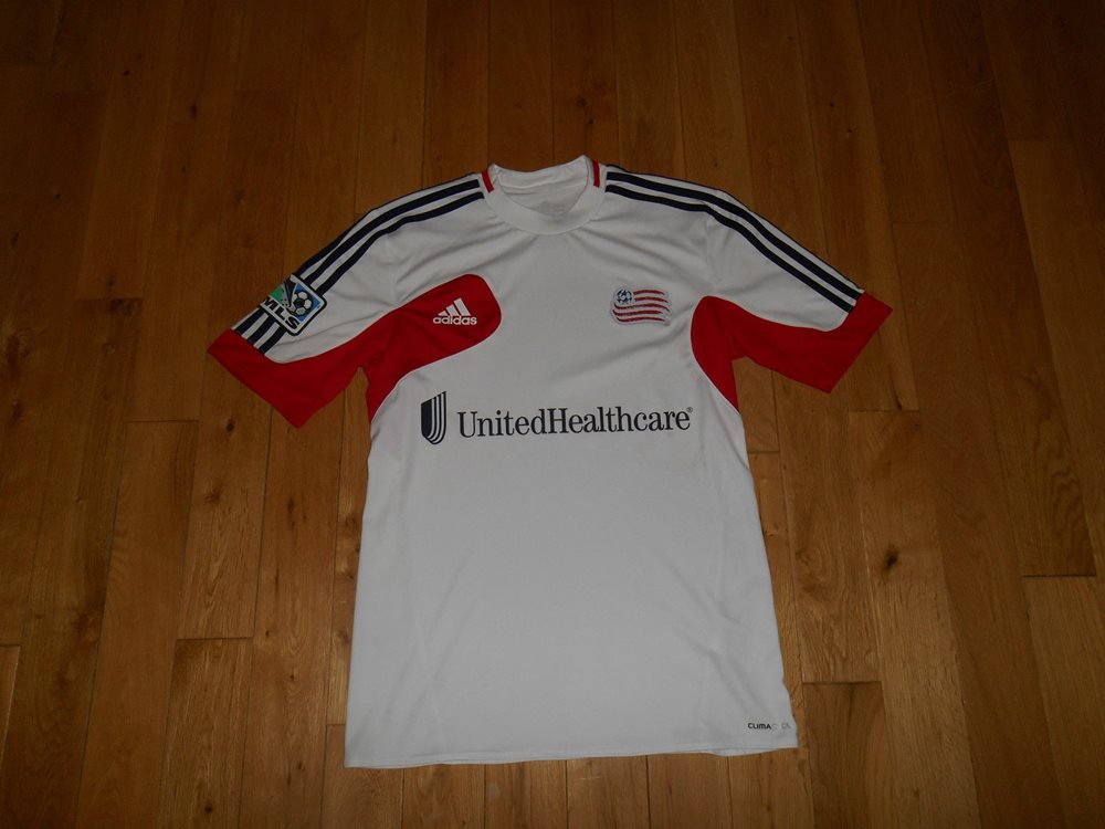 info for 3156f 272d6 ADIDAS NEW ENGLAND REVOLUTION MLS SOCCER JERSEY KIT MENS SMALL CLIMACOOL