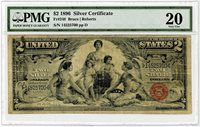 Fr. 248 $2 1896 Two Dollar Silver Certificate Note Educational Series VF20 PMG