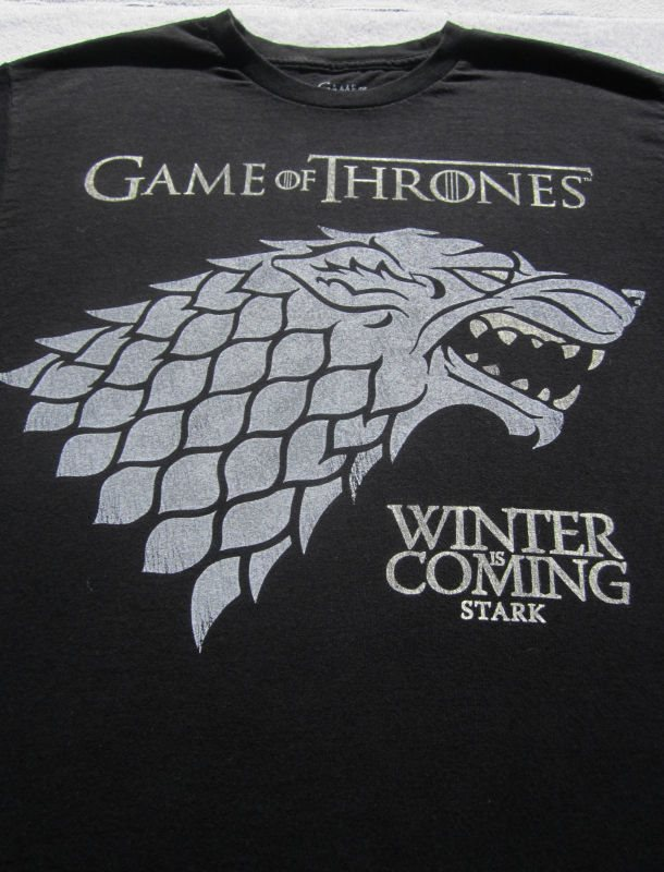 Game Of Thrones Stark Winter Is Coming Large T Shirt