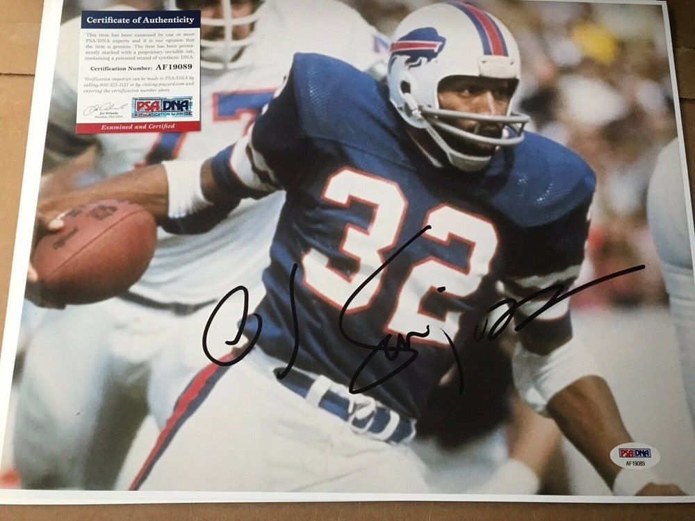 pretty nice 90023 a4704 Oj Simpson Autographed Signed Autograph 11x14 Photo Buffalo Bills NFL Hof  PSA/DNACUSTOM FRAME YOUR JERSEY