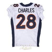 Jamaal Charles Game Worn Denver Broncos Jersey From 9 24 17 vs the Buffalo f9f8e594f