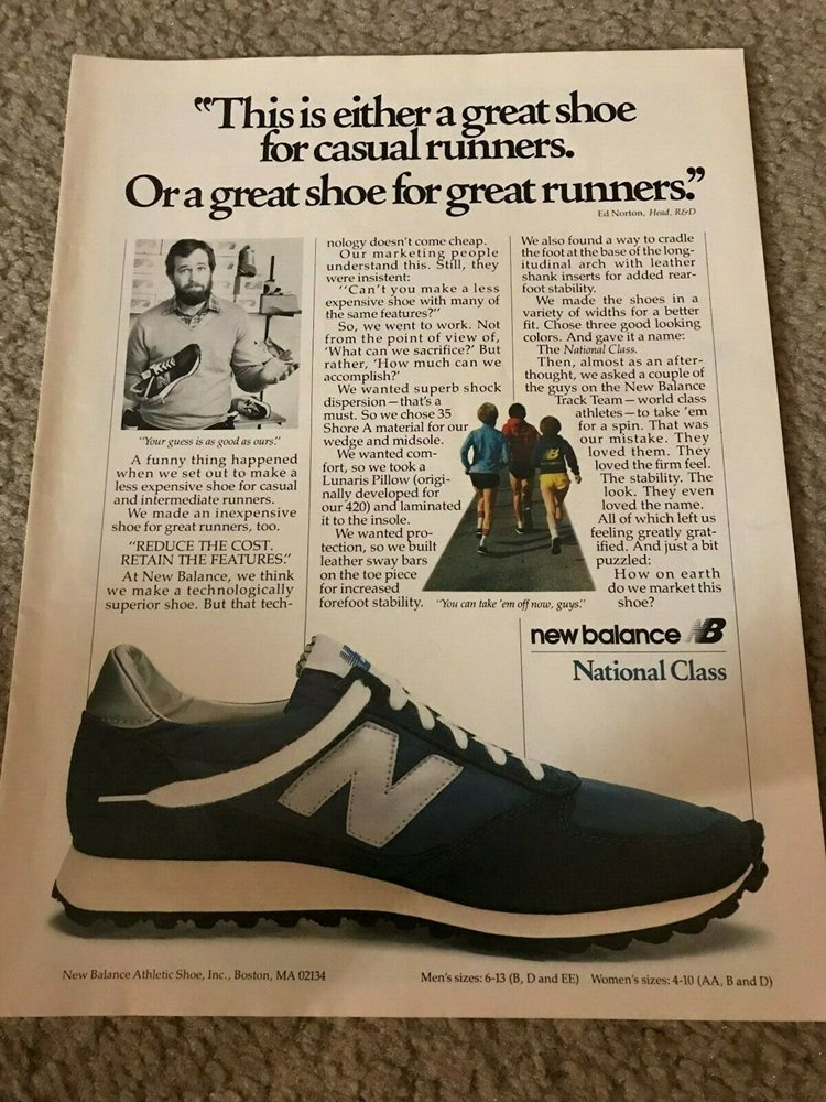 Vintage 1981 NEW BALANCE NATIONAL CLASS Running Shoes P