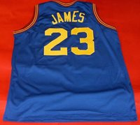 quality design b46c1 5613e LEBRON JAMES CUSTOM CLEVELAND CAVALIERS THROWBACK JERSEY