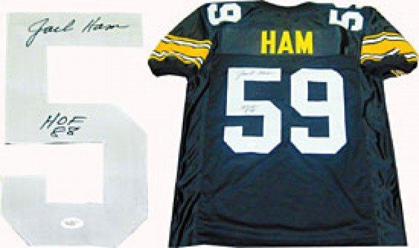 5036b4696ae Jack Ham HOF 88 Autographed / Signed Pittsburgh Steelers Jersey (JSA)