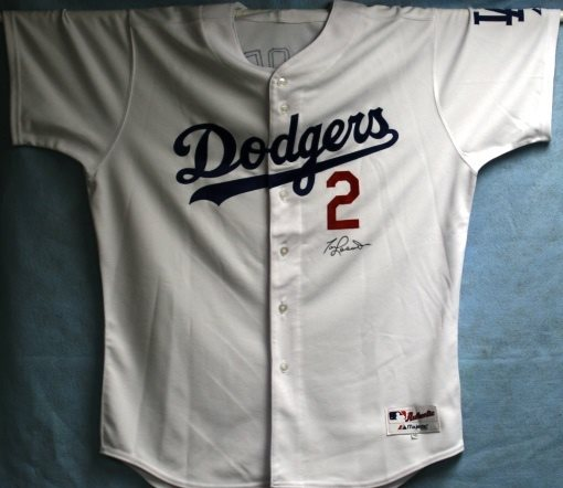 sports shoes e3a62 65af9 Tommy Lasorda Autographed Dodgers Jersey