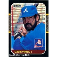 Ozzie Virgil 1987 Donruss Baseball Card 67 Atlanta Braves