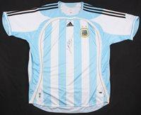 6ef5f4142 Lionel Messi Signed Argentina Jersey Inscribed