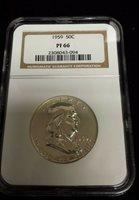 1959 Franklin Proof Silver Half Dollar - NGC PF66
