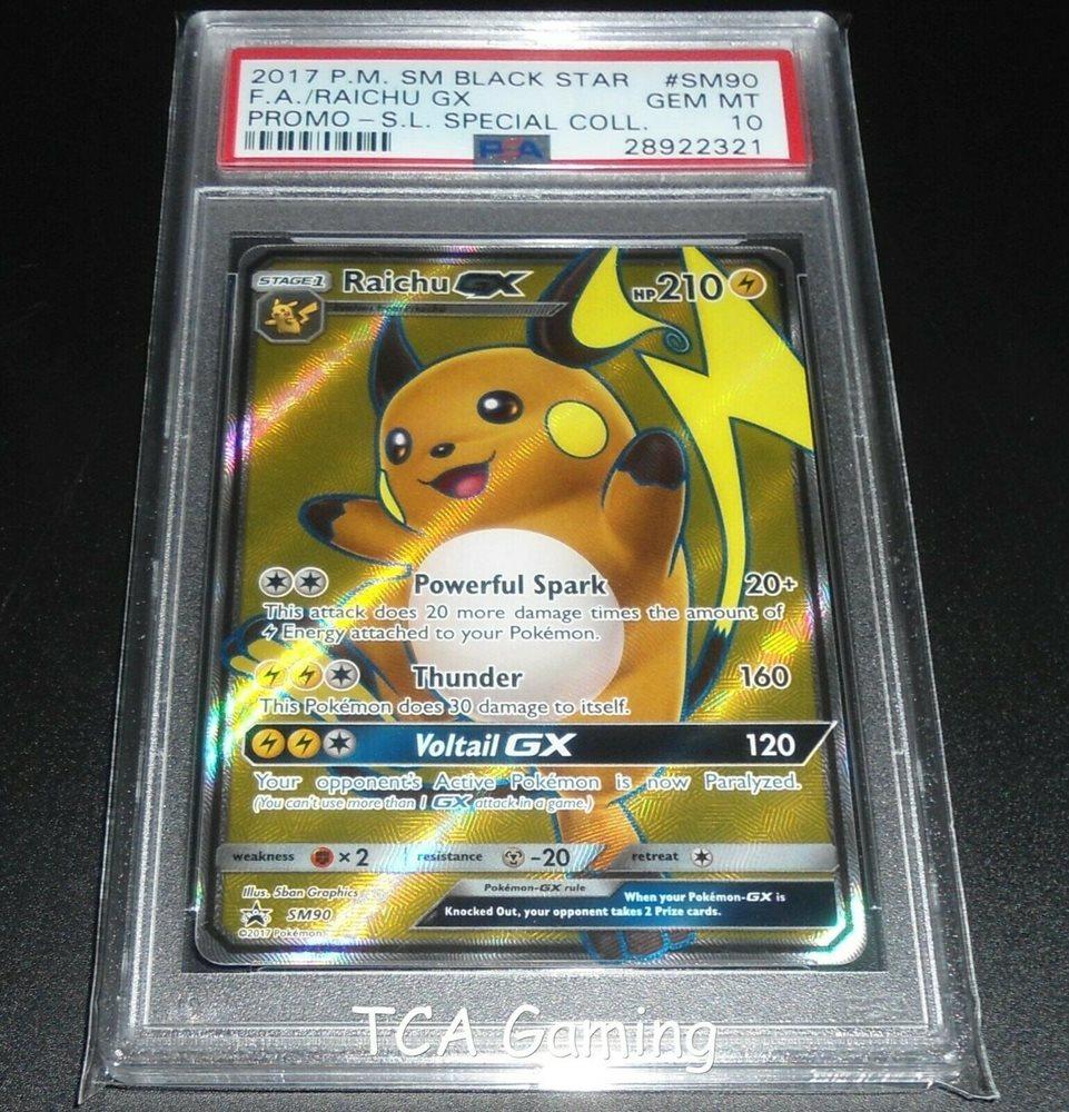 Raichu Gx SM90 Promo Card MINT Pokemon TCG