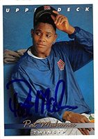 Pat Mahomes autographed baseball card (Minnesota Twins) 1993 Upper Deck #337