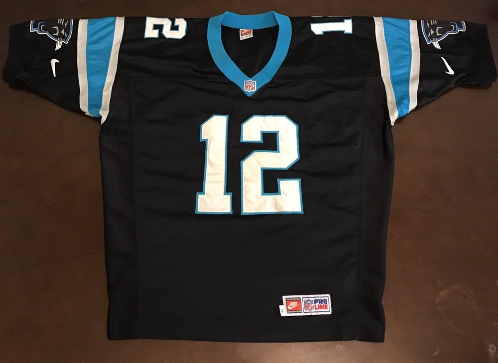 super popular 08b83 5d550 Vintage Nike Pro Line NFL Carolina Panthers Kerry Collins Football Jersey