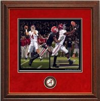 ALABAMA DANIEL MOORE BLACKOUT FRAMED MINI PRINT JULIO JONES FALCONS COIN