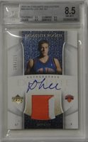 David Lee 2005-06 Upper Deck Exquisite Autograph Patch 2 Color 185/225 BGS 8.5
