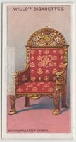 The Throne Enthronisotion Chair Royalty England 100 Y/O Trade Ad Card