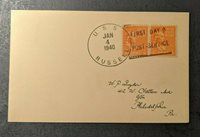 1940 USS Russell First Day Cover US Navy to Philadelphia Pennsylvania
