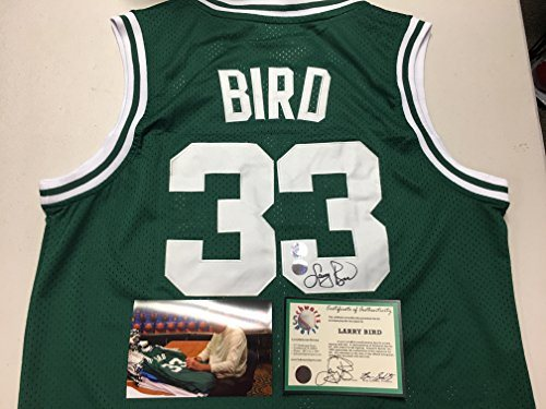 pretty nice cb987 9a93d Larry Bird Autographed Signed Boston Celtics Authentic Jersey Schwartz  Sports & Larry Bird Personal Hologram W/Photo