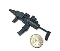 10X1//6 Scale UZI Pistol Submachine Gun Mini Toys Model Plastic Color Random