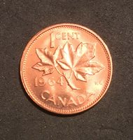 1964 Canada 1 Cent Penny Uncirculated MS Ships From canada