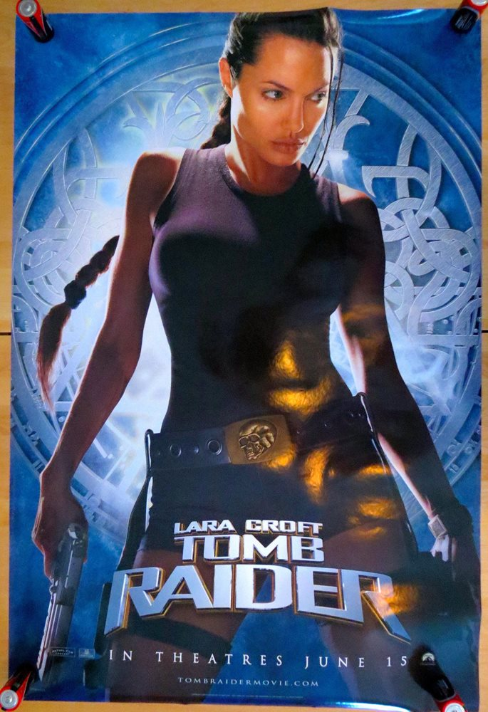 Original 2001 Movie Poster Lara Croft Tomb Raider Adva