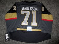 b1f1cae6b WILLIAM KARLSSON Vegas Golden Knights SIGNED Autographed JERSEY w BAS COA  New M