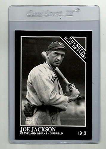 Shoeless Joe Jackson Cleveland Indians 1913 1992 The Sporting News Conlon Collection Reprint Baseball Card Mint Condition With Card Protector
