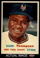1957 Topps # 109 Hank Thompson New York Giants (Baseball Card) Dean's Cards 8 - NM/MT