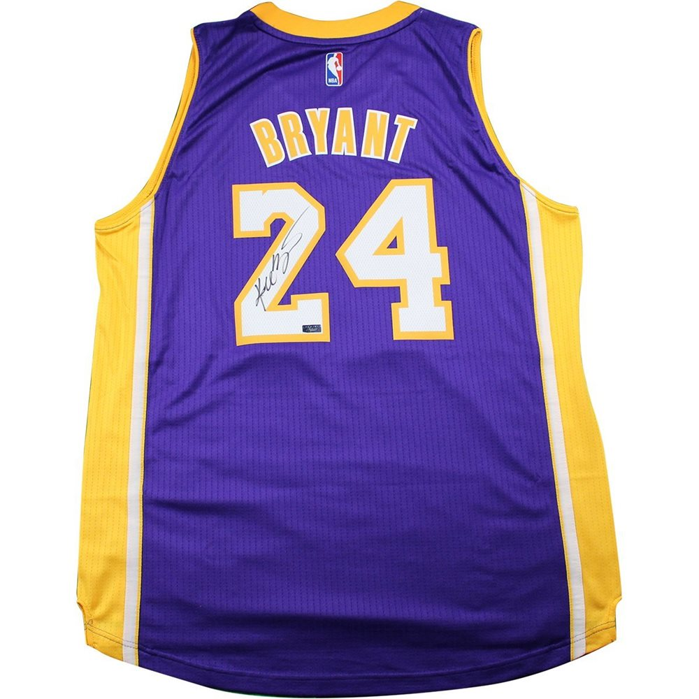 on sale 9a1d3 906ba Kobe Bryant Signed Purple LA Lakers Swingman Jersey (Panini Auth)(3-KBRJ27)
