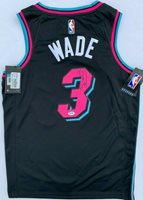 Dwyane Wade Autographed Signed Miami Heat Black Vice Edition Nike Basketball Jersey Psa Dna