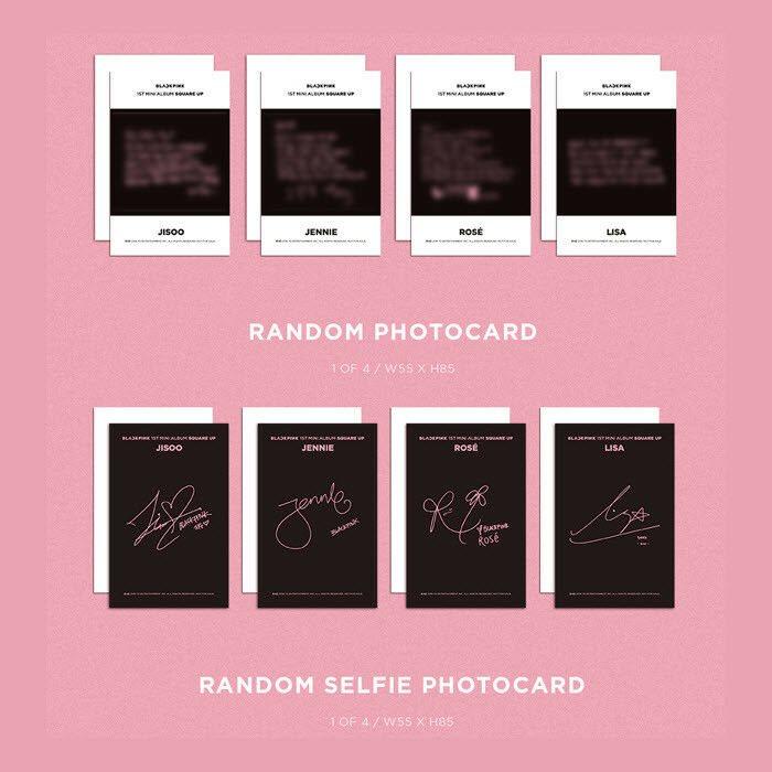 Blackpink Official Photocard 1st Mini Album Square Up B