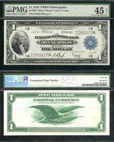 LG FRBN $1.00 1918 PMG 45 EPQ Fr 736