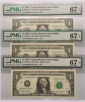 2003 $1 DALLAS * STAR * ⭐️ FRNs 3 CONSECUTIVE SUPERB PMG GEM UNCIRCULATED 67 EPQ