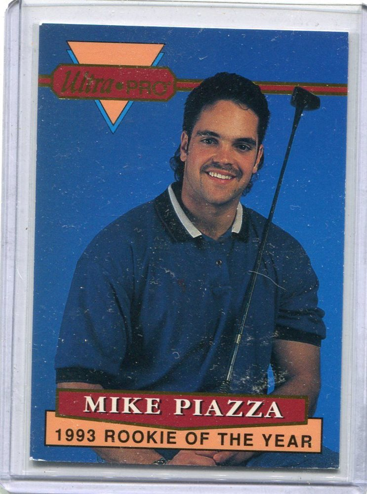 1993 Ultra Pro Card Mike Piazza Rookie Los Angeles Dodgers Nr Mt 3 Of 6