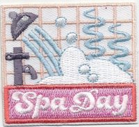 Cub Boy Girl Scout Fun Badge Patch ~ Groovy Girl Spa Party