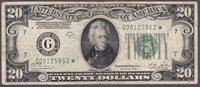 Fr.-2052* 1928-B $20 Chicago Ser. G00125953* Raw