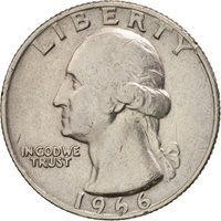1966 Us Quarter Error Coin