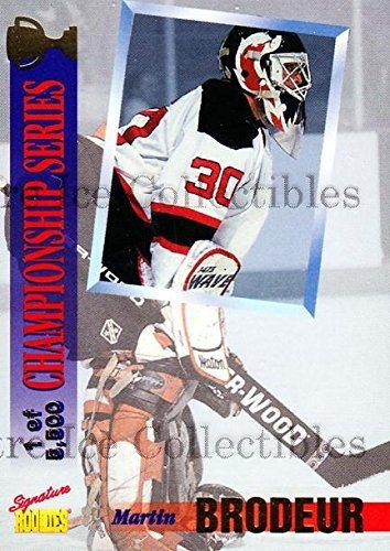 Martin Brodeur Hockey Card 1995 Signature Rookies Draft
