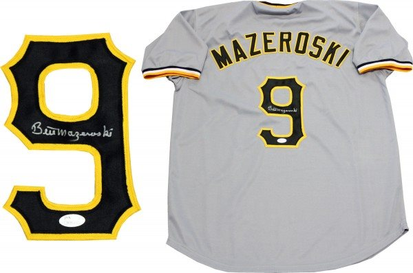 best authentic 30382 95b3d Bill Mazeroski Autographed Pittsburgh Pirates Jersey (JSA)