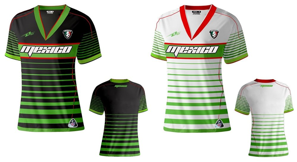 92f5b6dee Mexico Slim Women Soccer Jersey Made by Arza Sports Mad