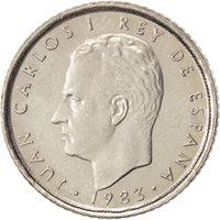 Spain, Juan Carlos I, 10 Pesetas, 1983, MS(65-70), Copper-nickel, KM:827