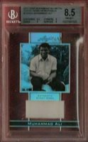 MUHAMMAD ALI THE GREATEST AUTHENTIC GRADED BGS NM-MINT 8.5 EVENT WORN RELIC CARD