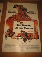 Elizabeth Taylor 24X36 Poster The Taming Of The Shrew Red Costume
